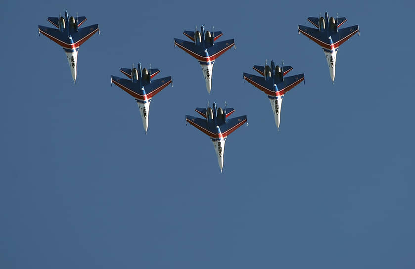 С 1993 года группа выступает на международном авиасалоне МАКС в подмосковном Жуковском