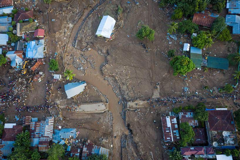 Восточный Флорес, Индонезия. Последствия наводнения, вызванного тропическим циклоном