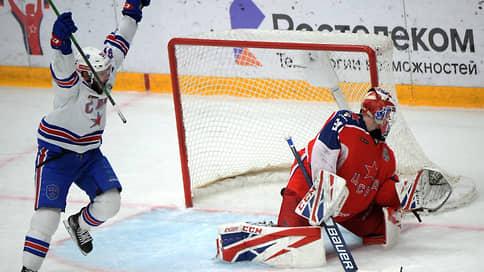 Гранды затянули с серией  / СКА сократил отставание в полуфинале Кубка Гагарина от ЦСКА до минимума победой в третьем овертайме