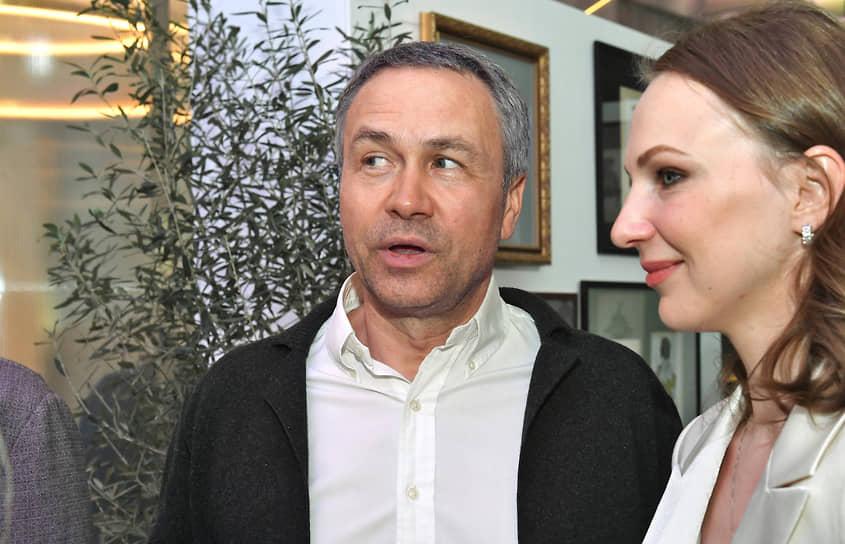 Банкир Николай Шитов на церемонии открытия выставки Льва Бакста