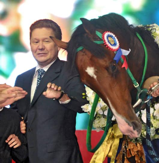 Самый благоприятный возраст для цирковой лошади — от 4 до 15 лет<br> На фото: председатель правления «Газпрома» Алексей Миллер, 2011 год