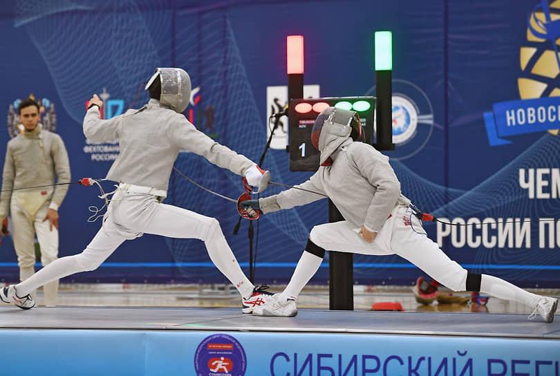 Соревнование мужчин на саблях на чемпионате России