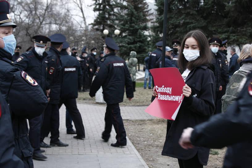 В акции в Ижевске участвовали несколько десятков граждан