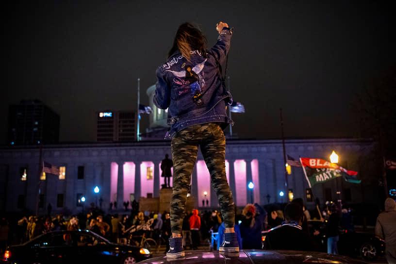 Колумбус, США. Акция протеста в штате Огайо