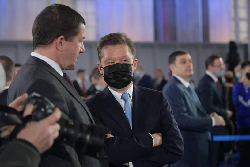 Президент «Ростелекома» Михаил Осеевский (слева) и председатель правления «Газпрома» Алексей Миллер