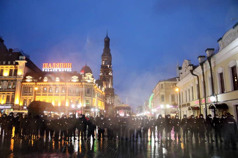 Акция в поддержку Алексея Навального в Казани