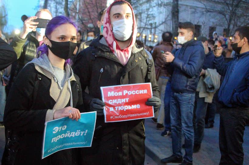В Москве в акции в поддержку Алексея Навального участвовали, по данным МВД, свыше 6 тыс. человек