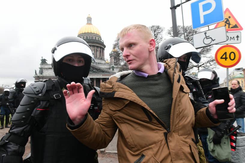 Задержания на акции в Санкт-Петербурге