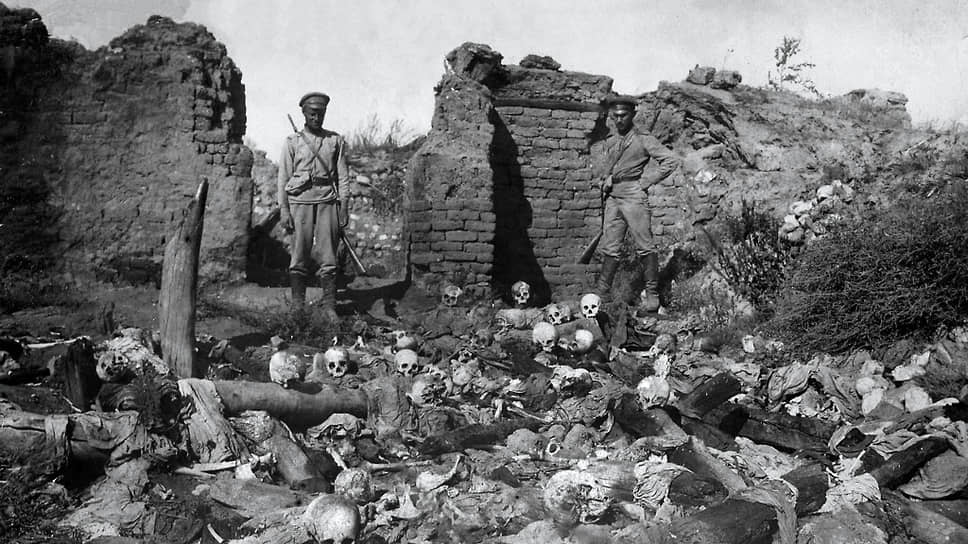 """""""There are graves and crypts with piles of skeletons of slaughtered and shot Armenians dumped in them."""""""