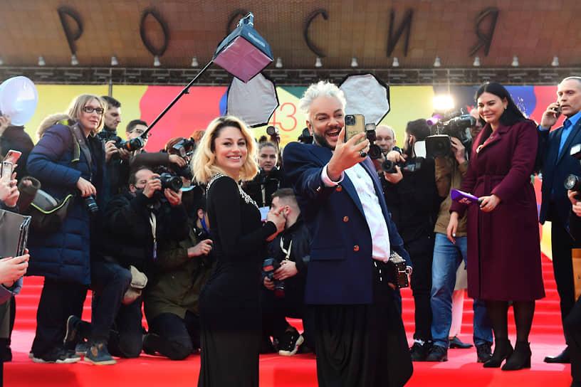 Певцы Филипп Киркоров и Наталья Гордиенко на церемонии открытия Московского международного кинофестиваля в Московском театре мюзикла