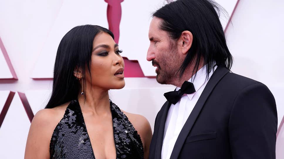 Солист Nine Inch Nails Трент Резнор с женой Марикин Маандиг, солисткой группы West Indian Girl