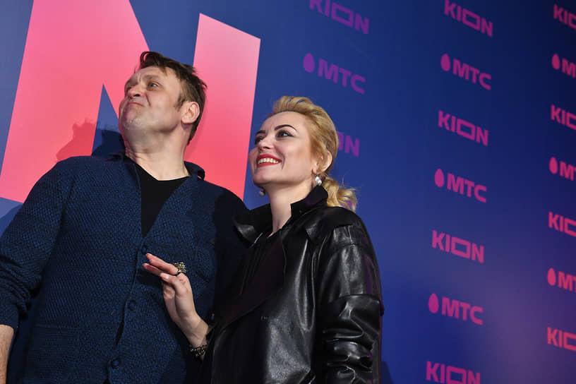 Актеры Николай Шрайбер и Юлия Бедарева на презентации онлайн-кинотеатра Kion от компании «МТС Медиа»