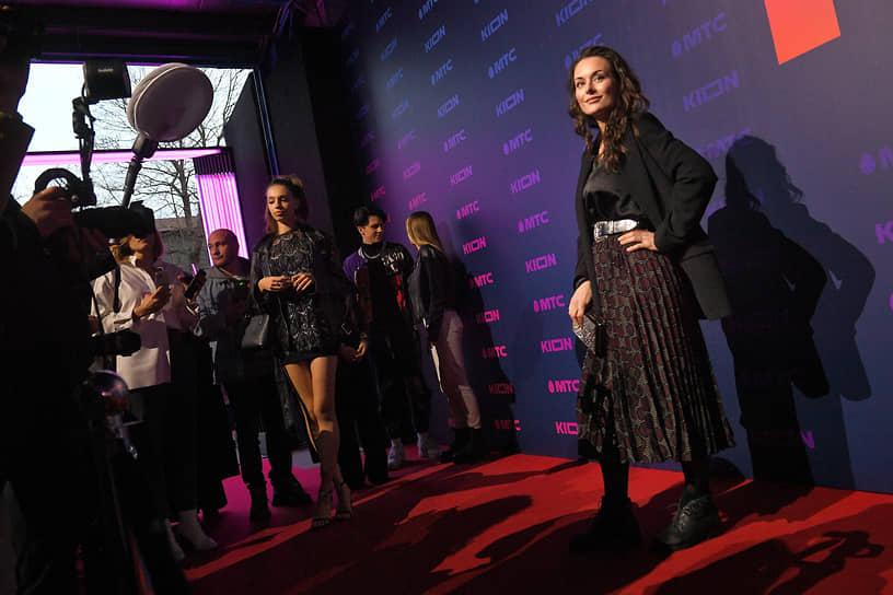 Актриса Екатерина Олькина на закрытой презентации нового онлайн-кинотеатра Kion от компании «МТС Медиа» в девятом павильоне киноконцерна «Мосфильм»