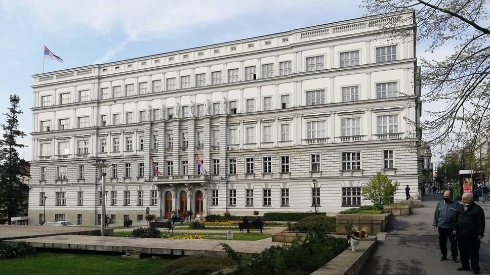 Двухэтажное здание Госсовета и Центрального контроля (построено в 1889 году, достроено в 1920 году) было по проекту Николая Краснова перепланировано в четырехугольник со внутренним двором. В 1959 году было достроено до современного вида. В настоящее время в здании располагается министерство финансов Сербии
