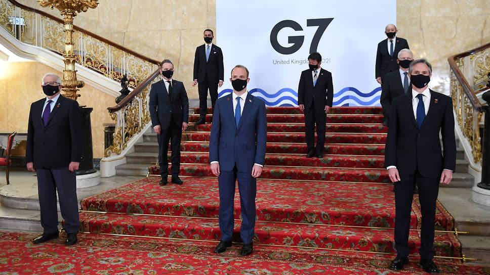 Главы МИД стран G7 на очной встрече в Лондоне