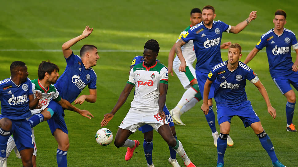 Матч «Оренбург»—«Локомотив» в рамках РПЛ в июне 2020 года