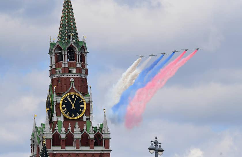 Москва, Россия. Репетиция парада, посвященного 76-й годовщине Победы в Великой Отечественной войне
