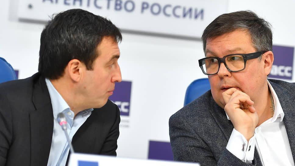 Политологи Дмитрий Гусев (слева) и Алексей Мартынов