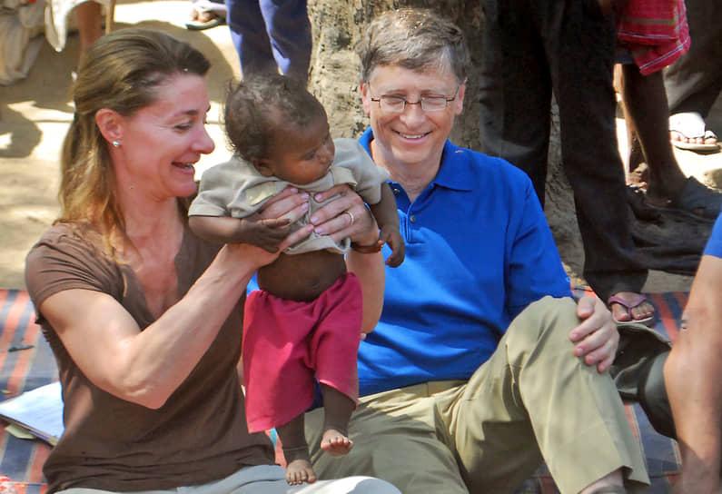 Билл и Мелинда Гейтс во время визита в Индию. 2011 год
