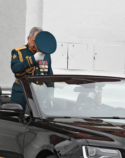 Москва. Министр обороны России Сергей Шойгу во время парада Победы на Красной площади