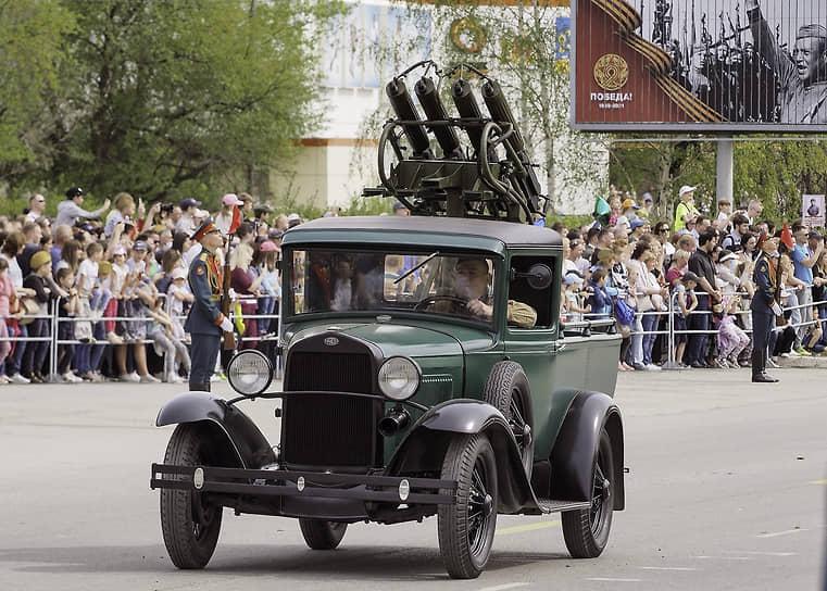 Верхняя Пышма. Парад военной техники времен Великой Отечественной войны
