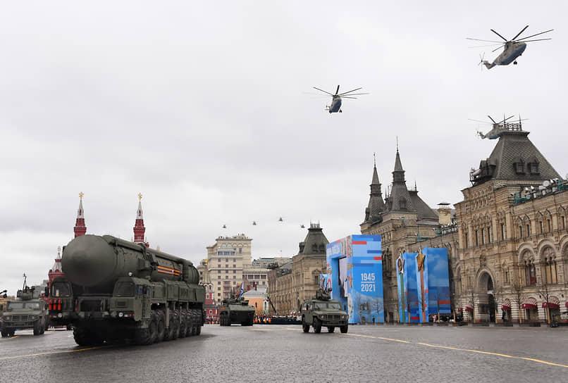 Москва. Стратегические ракетные комплексы «Ярс» 54-й гвардейской ракетной дивизии