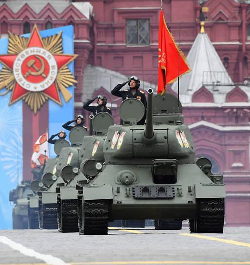 Москва. Парадный расчет танкистов