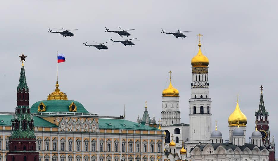 Москва. Воздушная часть парада