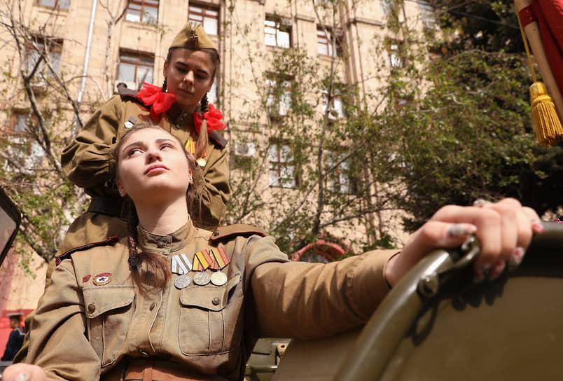 Волгоград. Военный парад в честь Дня Победы