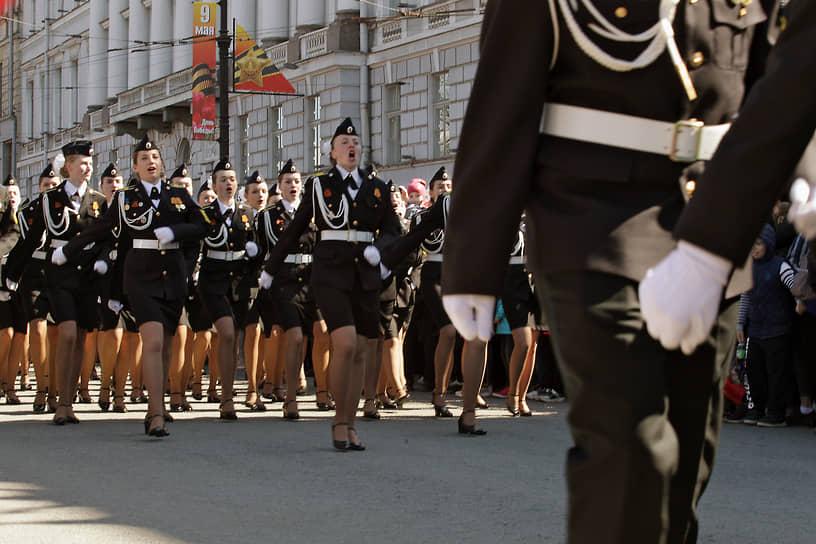Санкт-Петербург. Парадный расчет военнослужащих-женщин