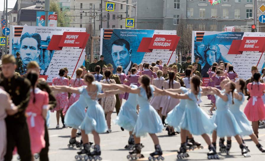 Казань. Театрализованное представление в рамках парада