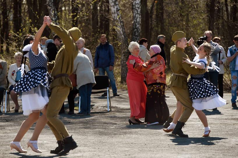 Новосибирская область. Празднование Дня Победы в селе Листвянском