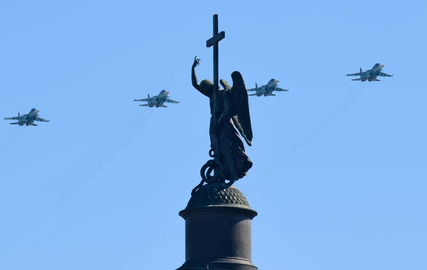 Санкт-Петербург. Воздушная часть парада, посвященного 76-ой годовщине Победы