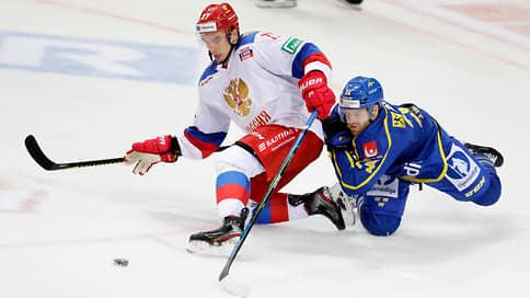 Питерские набросали шведам  / Сборная России выиграла первый матч Чешских хоккейных игр