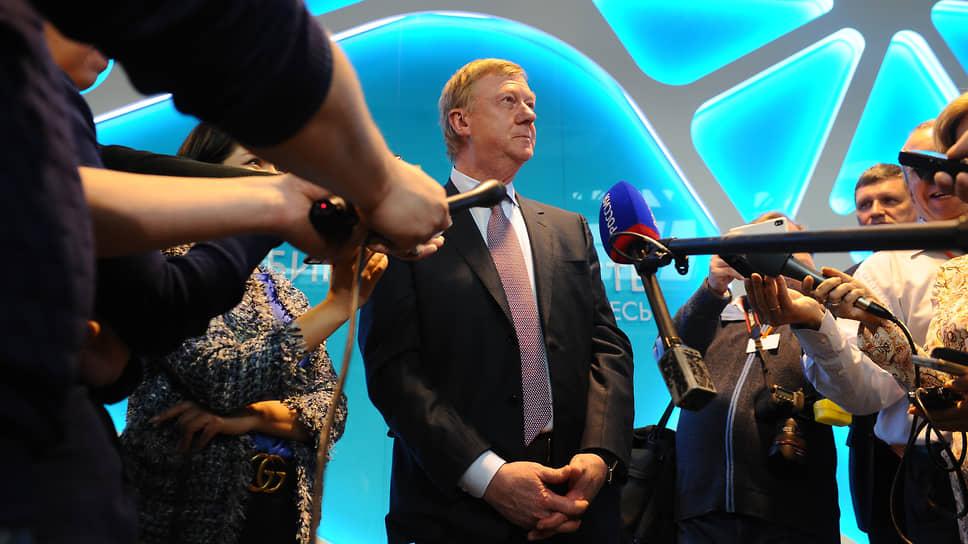 Анатолий Чубайс — фигура всегда интересная журналистам