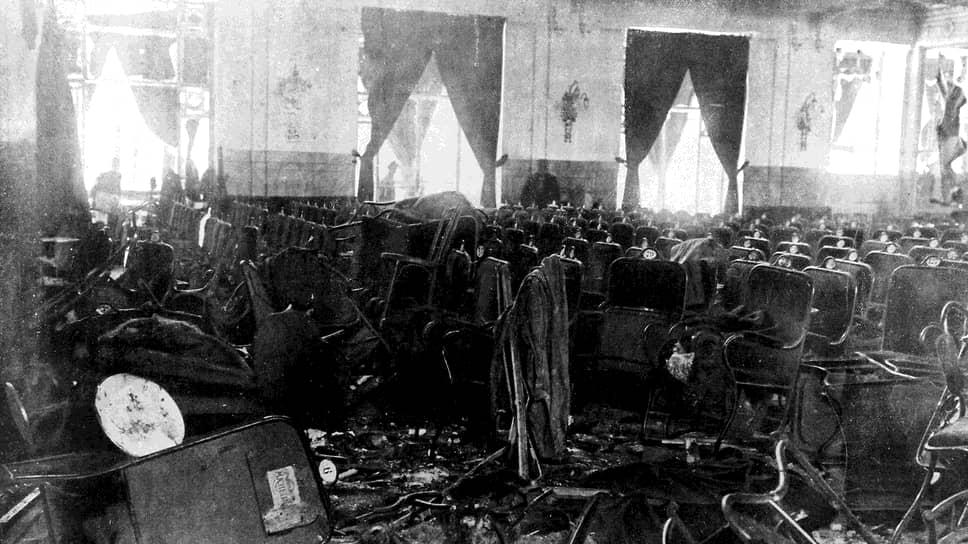 Зал театра Kursaal Diana после теракта