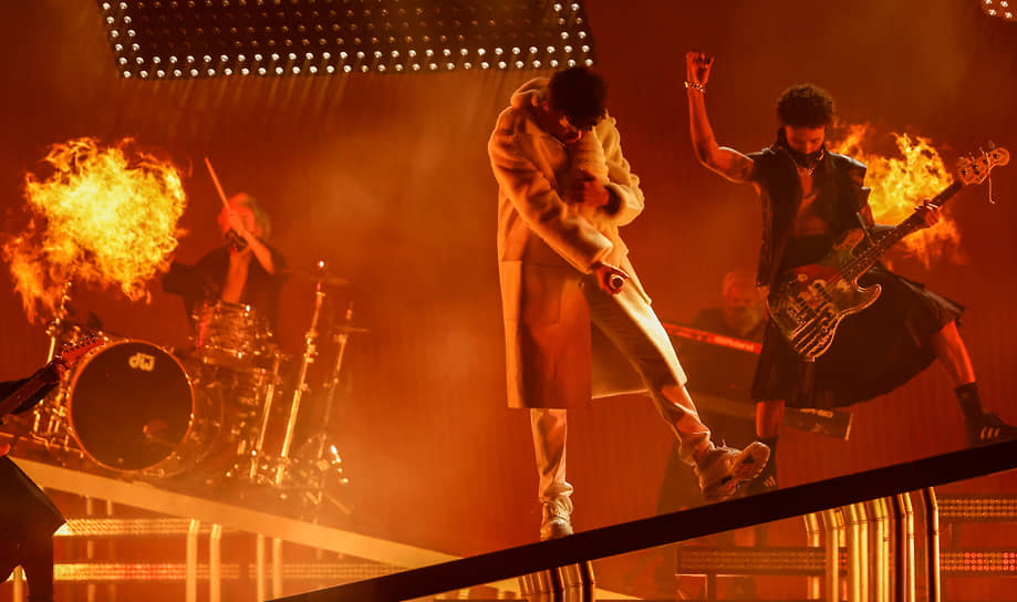 Выступление пуэрто-риканского рэпера Bad Bunny, в этом году получившего четыре статуэтки