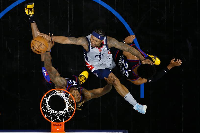 Филадельфия, США. Баскетбольный матч между командами «Вашингтон Уизардс» и «Филадельфия Севенти Сиксерс»