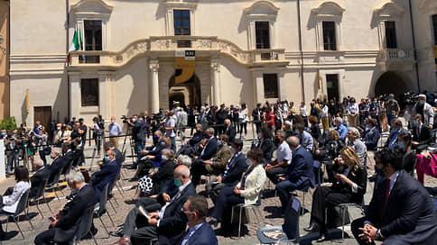 Итальянский дворец возродили на российские деньги // В пострадавшей от землетрясения Аквиле открылся Музей современного искусства