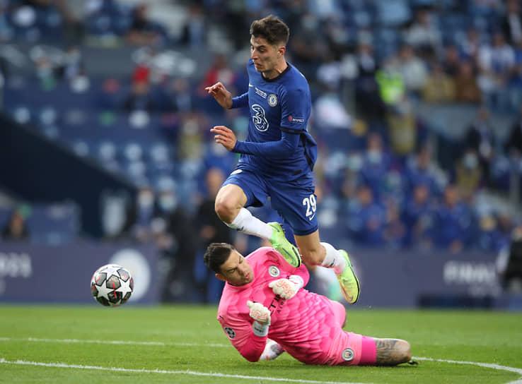 Единственный гол на 42-й минуте забил полузащитник «Челси» Кай Хаверц