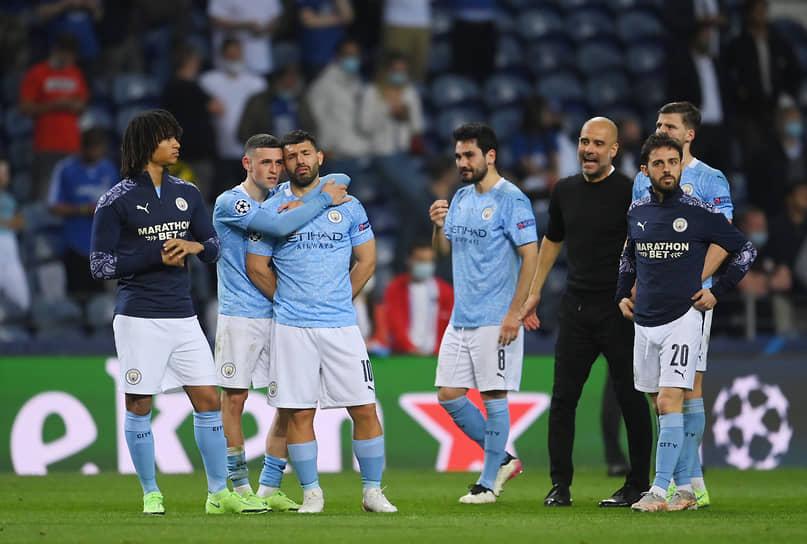 Игроки «Манчестер Сити» после поражения команде «Челси»