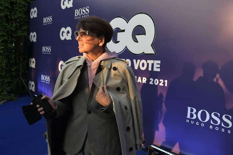 Модельер Валентин Юдашкин на коктейле, посвященном старту голосования за претендентов на звание «GQ Человек года-2021» русской версии журнала GQ