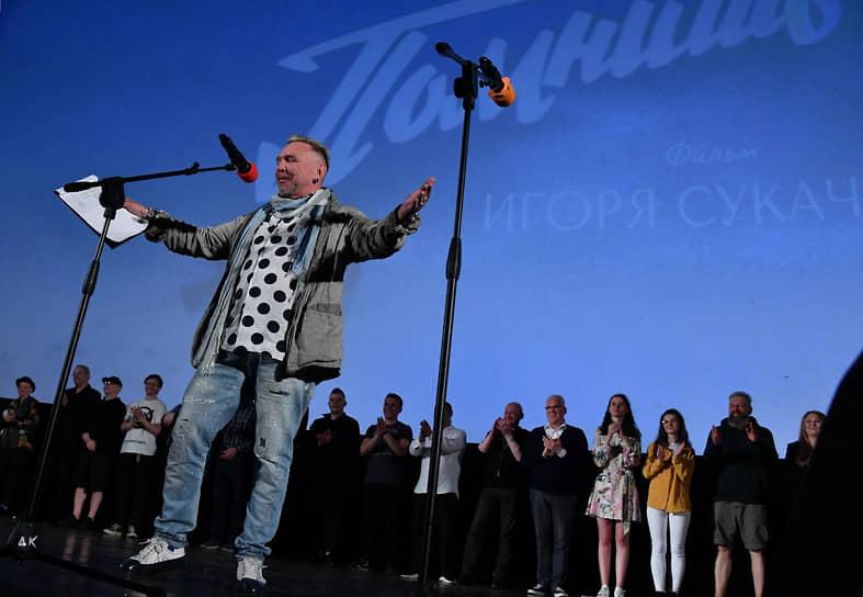 Режиссер Гарик Сукачев на премьере своего фильма «Помнишь» в Доме Кино
