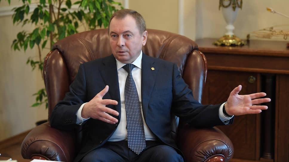 Глава МИД Белоруссии об инциденте с самолетом, противостоянии с Западом и интеграции с Россией