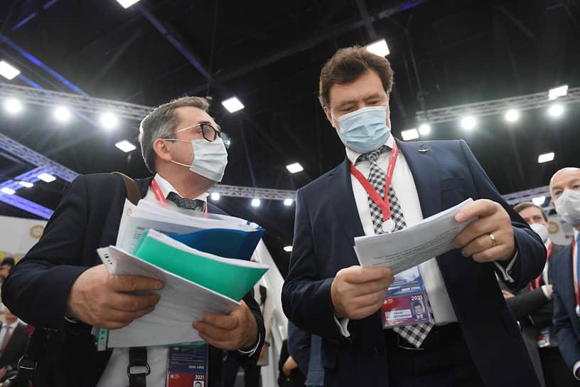 Гендиректор «Аэрофлота» Михаил Полубояринов (справа) на сессии «Транспортный каркас экономики»