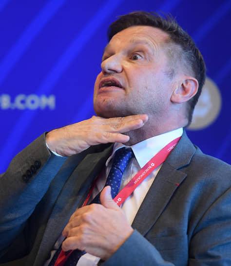 Корреспондент MEDEF International Филипп Пегорье во время форума