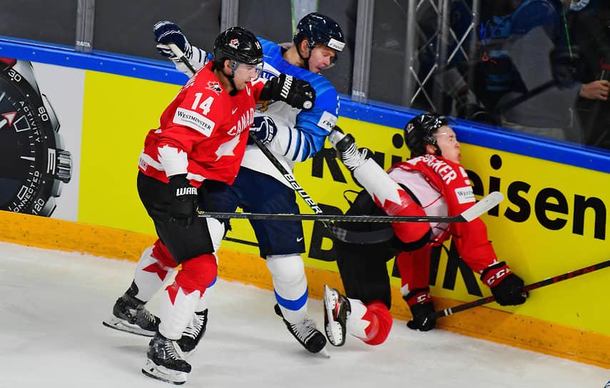 Рига, Латвия. Матч между сборными Финляндии и Канады