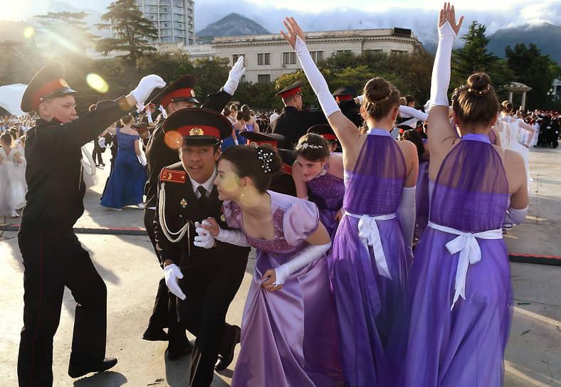 Ялта, Россия. II Александровский кадетский бал в рамках празднования Дня защиты детей в Крыму