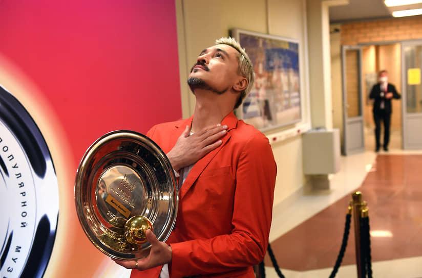 Певец Дима Билан, которому вручили награду «Артист 25-летия»