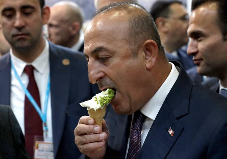 Министр иностранных дел Турции Мевлют Чавушоглу, 2017 год